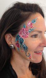 Flower Sparkles Eye Painting
